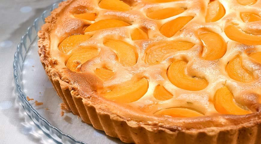 Пирог с творогом и персиками в духовке рецепт с
